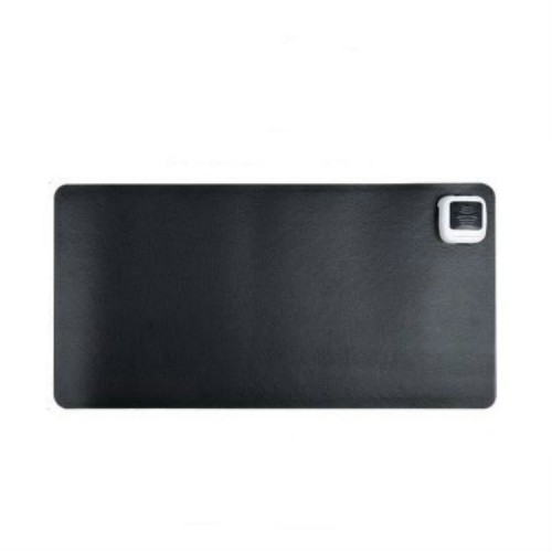 220V Electric Hot Plate Writing Desk Warm Table Mat Blanket Office Mouse Heating Warm Computer Hand Warmer Desktop Heating Plate, Color: Black Small Size
