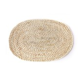 2 PCS Non-slip Natural Corn Woven Thickening Insulated Tea Mat Table Heat-resistant Casserole Mat Oval placemat 30×45.5cm