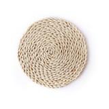 2 PCS Non-slip Natural Corn Woven Thickening Insulated Tea Mat Table Heat-resistant Casserole Mat Round Coaster 10cm
