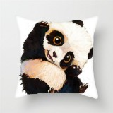 Cute Cartoon Panda Style Cushion Cover For Sofa Pillow Cover, Size: 45x45cm (S6047)