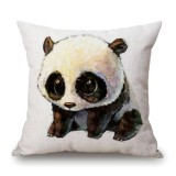 Cute Cartoon Panda Style Cushion Cover For Sofa Pillow Cover, Size: 45x45cm (S6048)