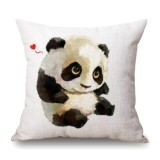 Cute Cartoon Panda Style Cushion Cover For Sofa Pillow Cover, Size: 45x45cm (S6050)