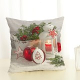 Christmas Decoration Cotton and Linen Pillow Office Home Cushion Without Pillow, Size: 45x45cm (Star Christmas)