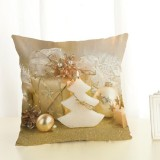 Christmas Decoration Cotton and Linen Pillow Office Home Cushion Without Pillow, Size: 45x45cm (White Christmas Tree)