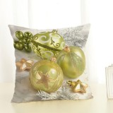 Christmas Decoration Cotton and Linen Pillow Office Home Cushion Without Pillow, Size: 45x45cm (Green Christmas)