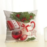 Christmas Decoration Cotton and Linen Pillow Office Home Cushion Without Pillow, Size: 45x45cm (Red Christmas)