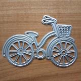 Bicycle Metal Cutting Die Steel Mesh DIY Scrapbooking Decoration Craft Album Embossing, Size: 92x62mm