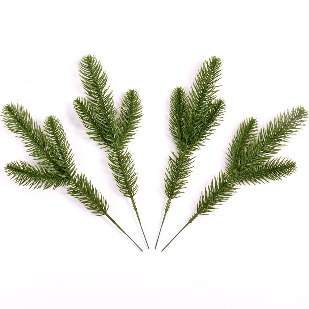 4 PCS Pine Branches Simulation Plant Pine Needle Decoration Accessories Handmade Materials Home Decoration