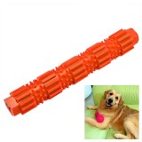 Pet Dogs Training Chew Pet Toys Strong Bite Resistant Dogs Rubber Molar Toys, Size: S (Orange)
