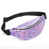 Fashionable Unisex Chest Bag Fanny Pack Waist Bag Waterproof Laser Bags (Purple)