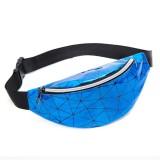 Fashionable Unisex Chest Bag Fanny Pack Waist Bag Waterproof Laser Bags (Blue)