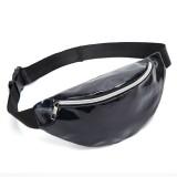 Fashionable Unisex Chest Bag Fanny Pack Waist Bag Waterproof Laser Bags (Black)