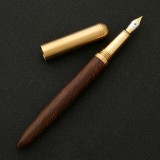 Luxury Wood Fountain Pen School Office Writing Ink Pen Stationery Gifts Supplies (Wenge wood)