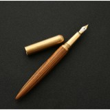 Luxury Wood Fountain Pen School Office Writing Ink Pen Stationery Gifts Supplies (Tiger wood)