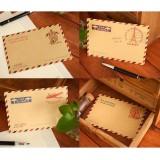 40 PCS Vintage Envelope Postmark Kraft Paper Postcard Card, Random Color Delivery