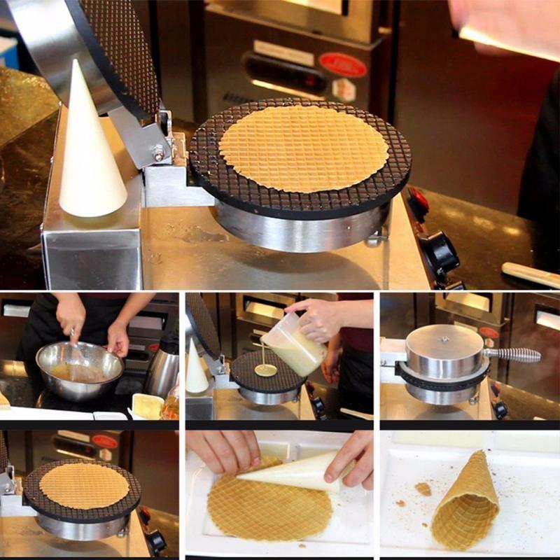 Electric Waffle Maker Egg Roll Maker DIY Ice Cream Cone Machine Crispy Omelet Machine, Plug Type: US Plug