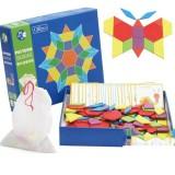 Creative Montessori Fun Children Puzzle Toys Baby Early Education Multi-functional Puzzle DIY Tangram (Shape)