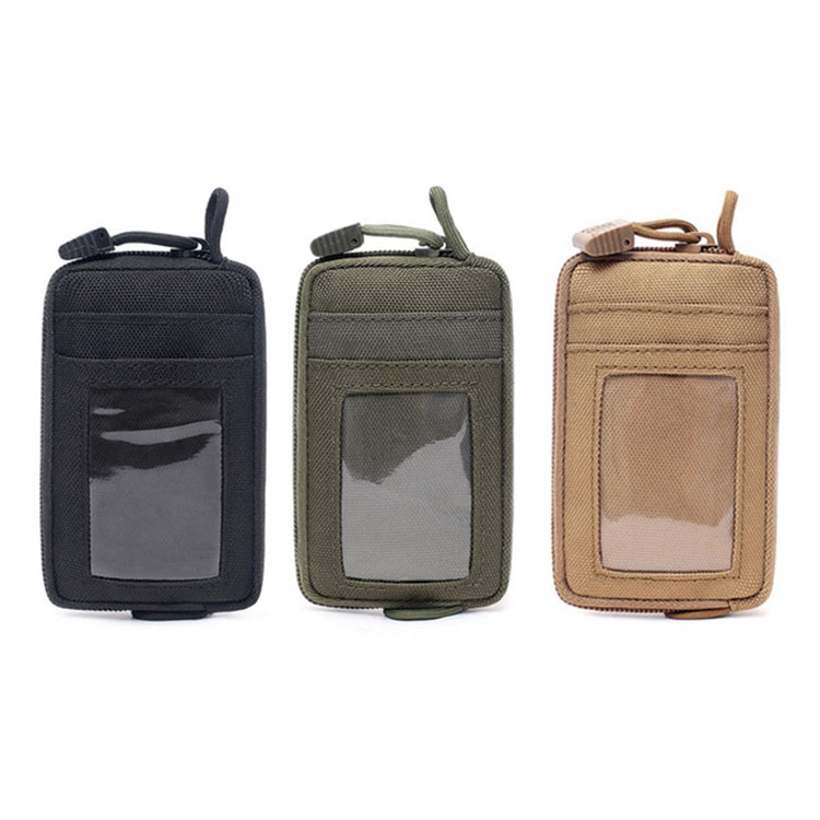 Outdoor Running Multi-functional Coin Purse Travel Waterproof Leisure Card Bag (Black)