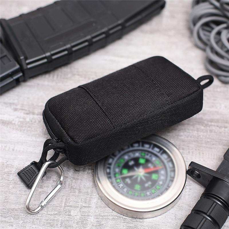 Outdoor Running Multi-functional Coin Purse Travel Waterproof Leisure Card Bag (ArmyGreen)