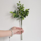 2 Branches Simulation Olive Flower Christmas Artificial Plant Decoration Wedding Home Decoration (Green)