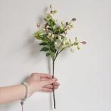 2 Branches Simulation Olive Flower Christmas Artificial Plant Decoration Wedding Home Decoration (Purple)