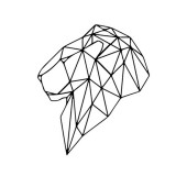 Geometry Animals Stickers Mural Vinyl Room Decoration Livingroom Bedroom Wall-sticker For Kids Room Decor Decal Wallpaper (Geometric Lion Head)