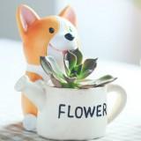 Creative Flower Pot resin Crafts Ornaments, Style: Keji Gardener