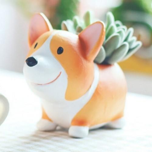Creative Flower Pot resin Crafts Ornaments, Style: Koki Flower Pot