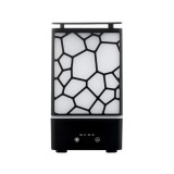 WT-8012 Water Cube Aromatherapy Oil Diffuser Mist Maker 7 Color Changing LED Light Ultrasonic Aroma Humidifier (Black)