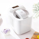 ICM-1000C Home Smart Small Automatic Homemade Fruit Ice Cream Machine, US Plug, 220V (White)
