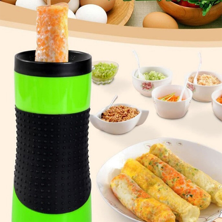 Electric Egg Roll Machine Home Automatic Multi-function Breakfast Cup Lazy Artifact, US Plug (Yellow)
