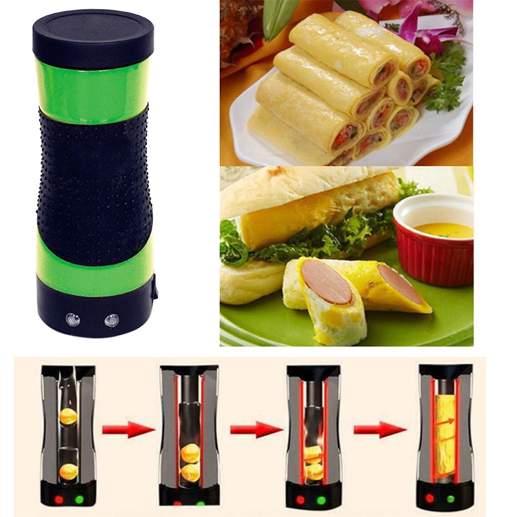 Electric Egg Roll Machine Home Automatic Multi-function Breakfast Cup Lazy Artifact, US Plug (Blue)