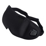 3D Draping Shading Health Care Breathable Eye Mask to Promote Sleep Eye Mask (Black)