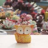 Ceramic Fleshy Flower Pot Succulent Thumb Pot Fox Flower Pot, Random Color Delivery (Without Plants)