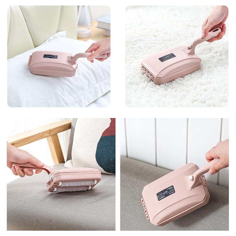 Three-row Brush 2 PCS Handheld Carpet Sweeper Brush Sofa Bed Pet Hair Debris Crumb Dirt Fur Cleaner Roller Cleaning Tools, Random Color Delivery