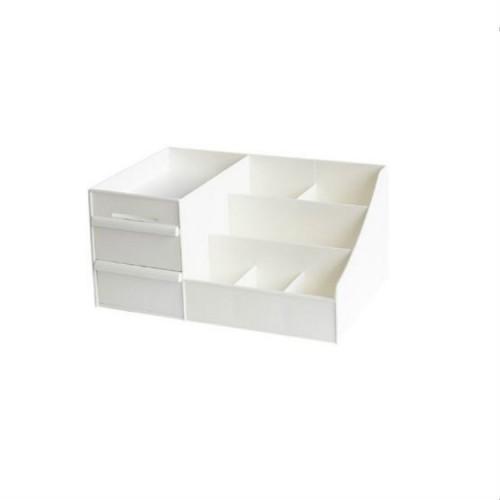 Large Capacity Makeup Cosmetic Organizer Storage Box Drawer Desktop Rack Container, Size: M