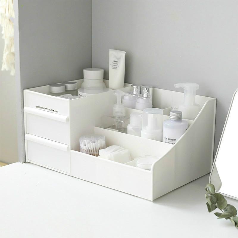 Large Capacity Makeup Cosmetic Organizer Storage Box Drawer Desktop Rack Container, Size: L