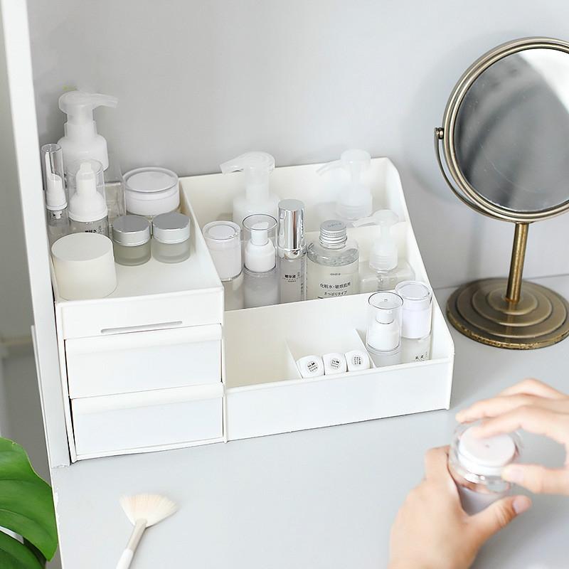 Large Capacity Makeup Cosmetic Organizer Storage Box Drawer Desktop Rack Container, Size: XL