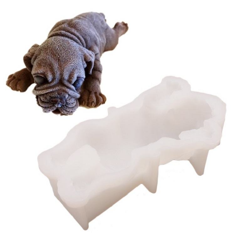 2 PCS 4 Inch Shapi Dog Mousse Cake Silicone Mold 3D Stereo Ice Cream Mold Dirty Dog Chocolate Mold