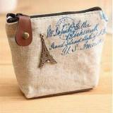 4 PCS Vintage Mini Coin Purse Pouch Bag Holders Gift Wallets Classic Nostalgic Storage Bag (White)