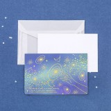 3 PCS Sulfuric Acid Paper Bronzing Folding Greeting Card Holiday Birthday Postcard Beautiful Envelope Set (Walking All The Way)