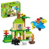 1004-60 PCS Gegle Children Large Particles Enlightenment Blocks Assembled Theme Jungle Adventure Scene Educational Toys