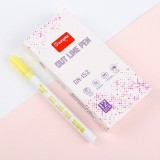 Guangna Fluorescent Marker Pen Double Ended Pen Writing Dawing Notes Review Pen Color Marker Pen (Yellow)