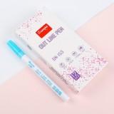 Guangna Fluorescent Marker Pen Double Ended Pen Writing Dawing Notes Review Pen Color Marker Pen (Blue)
