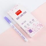 Guangna Fluorescent Marker Pen Double Ended Pen Writing Dawing Notes Review Pen Color Marker Pen (Purple)