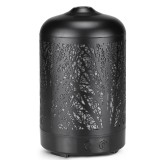 Metal Tree Air Humidifier Essential Oil Diffuser Mist Maker Colorful LED Lamp Diffuser Aromatherapy Air Purifier, AU Plug (Black)