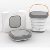 MOYU XPB30-F1 Portable Mini Automatic Household Folding Bucket Type Travel Washing Machine (Pink)