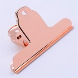 Stainless Steel Large Dovetail Clip Seal Clip Book Clip Folder Seal Clip Bill Clip (Rose Gold)