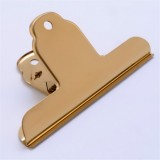 Stainless Steel Large Dovetail Clip Seal Clip Book Clip Folder Seal Clip Bill Clip (Gold)