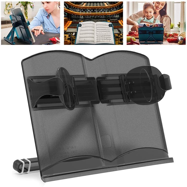 Nanguo Shuxiang Students Telescopic Look Bookshelf IPad Bracket Adjust Children Reading Frame (Black)